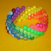 Rainbow Glitter/Pearl Cuff