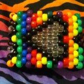 Rainbow Heart Cuff <3