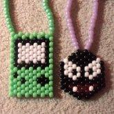 Gameboy Color & Gastly (Peyote Stitch Necklaces)
