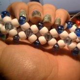 Blue & White Diamond Shape - Kandi Pattern 0005