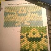 Final Prodcut Of Zelda Tri Force Cuff - Kandi Pattern 0006