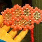 Pink Brass Knuckle Necklace