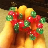 Pink And Green Scrunchie