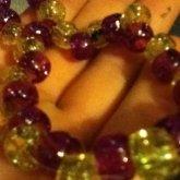 Purple And Yellow Scrunchie