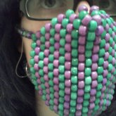 green an purple mask