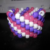 Glow Pink, White, And Purple Cuff