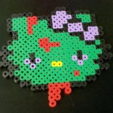 Zombie Hello Kitty Perler