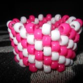 Pink And White Striped Cuff