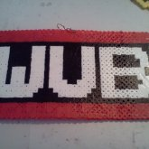 WUB WUB WUB WUB Dubstep Necklace (perler Beads)