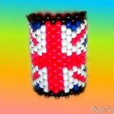 British Flag Kandi Cuff