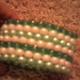 White And Green Peyote