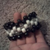 Black/White/Clear Cuff