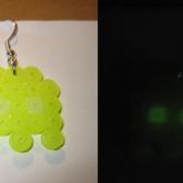 Glowing Space Invaders Earrings