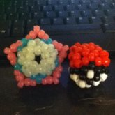 3d Star And 3d Pokeball