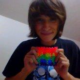 Melting Rainbow Cuff (My 3rd Piece Of Kandi ^-^)