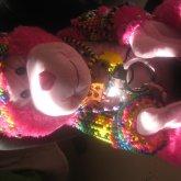 Fluffy Pink Mokey