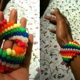 Mini Beads Rainbow Cuff