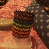 Black And Rainbow Cuff