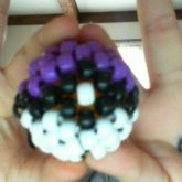 Purple And White Pokeball