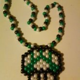 Green Mario Peyote Necklace