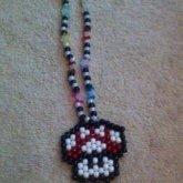 Mario Mushroom Necklace