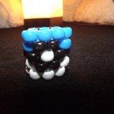 Blue Pokeball Ring