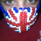 British Flag Kandi Mask