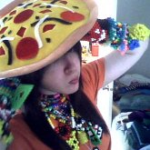 Some Kandi And My Pizza Hat.