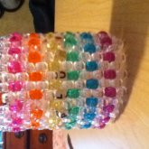 Clear/ Sparkly Rainbow PLUR Cuff