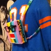Mini Rainbow Domo Backpack Side 1