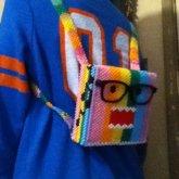 Mini Rainbow Domo Backpack Side 2
