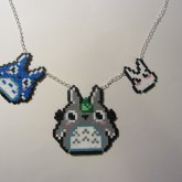 Totoro Family Necklace