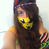 Me With Some Of My Kandi On And With My Kandi Mask
