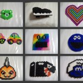 Random 3D Perler, Coasters & Magnets