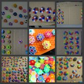Flower Magnets & Thumb Tacks