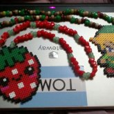 Strawberry And Link Necklaces :)
