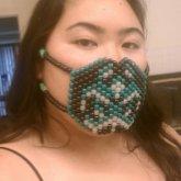 Glow Biohazard Surgeon Mask - Kandi Pattern 0019