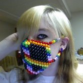 Rainbow Peace Sign Mask