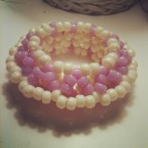 Little Purple/cream 3d Cuff