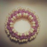 Little Purple/cream 3d Cuff 2