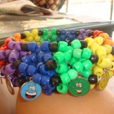 Big 3-D Cuff With Smiley Faces