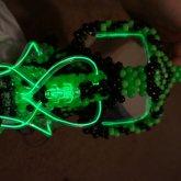 Green Full Face Gas Mask (single Respirator)