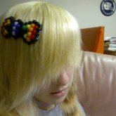 Rainbow Hello Kitty-ish Bow
