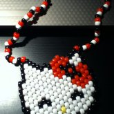 Kandi Hello Kitty Necklace