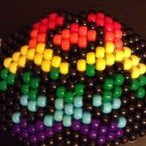 Rainbow Biohazard Kandi Mask