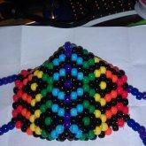 Monarch Rainbow Kandi Mask