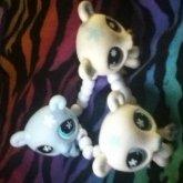 Littlest Pet Shop Polar Bears<3