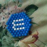 Blue M & M
