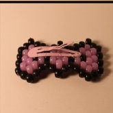 Purple/black Hair Bow Clip