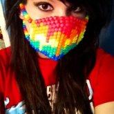 Melting Rainbow Mask